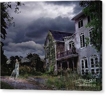 Castle House Canvas Print by Tom Straub