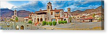 Castle In A Desert, Scottys Castle Canvas Print by Panoramic Images