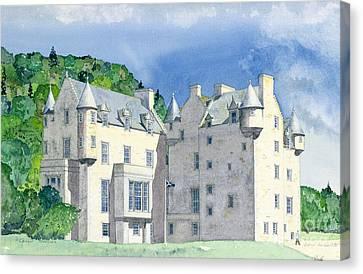 Castle Menzies Canvas Print by David Herbert