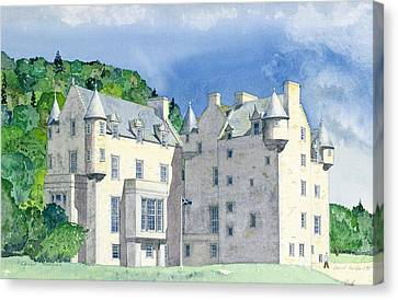 Castle Menzies Canvas Print by David Herbert