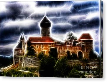 castle of the holy order - Sovinec Canvas Print by Michal Boubin