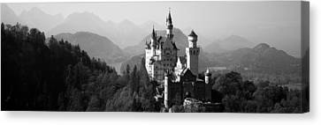Castle On A Hill, Neuschwanstein Canvas Print by Panoramic Images