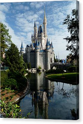 Castle Reflections Canvas Print by Nora Martinez