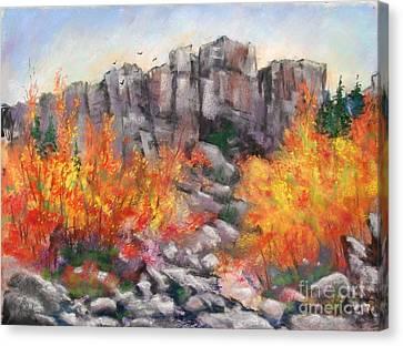 Castle Rock Canvas Print by Bruce Schrader