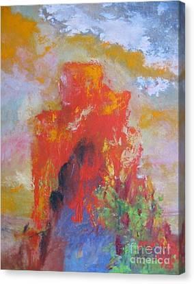 Castle Rock Canvas Print by Myra Maslowsky