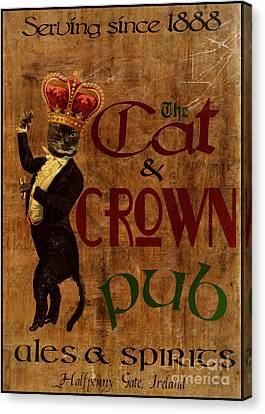 Cat And Crown Pub Canvas Print by Cinema Photography
