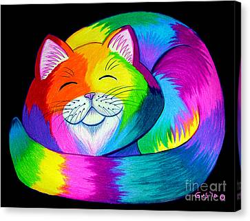 Cat Napping 2 Canvas Print by Nick Gustafson