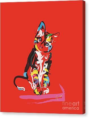 Cat Prins Canvas Print by Go Van Kampen