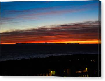 Catalina Island Sunset Canvas Print by Penny Lisowski