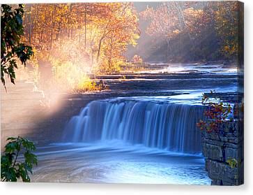 Cataract Falls Indiana Canvas Print by Randall Branham