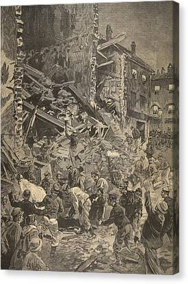 Catastrophe In Biot, Illustration Canvas Print by French School