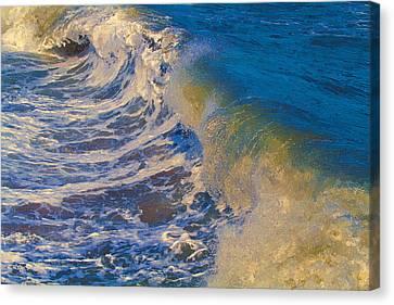 Catch A Wave Canvas Print by John Haldane
