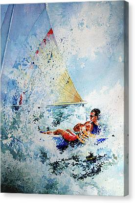 Catch The Wind Canvas Print by Hanne Lore Koehler