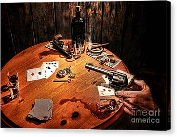 Catching A Cheater Canvas Print by Olivier Le Queinec