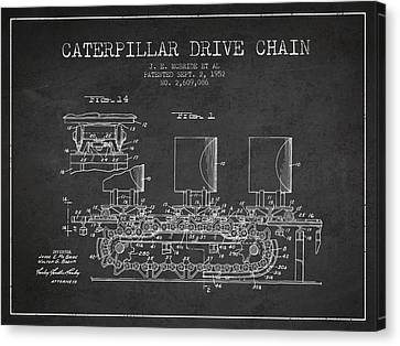 Caterpillar Drive Chain Patent From 1952 Canvas Print by Aged Pixel