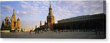 Cathedral At A Town Square, St. Basils Canvas Print by Panoramic Images