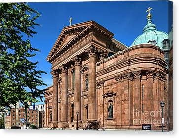 Cathedral Basilica Of Saints Peter And Paul Canvas Print by Olivier Le Queinec