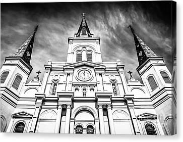 Cathedral-basilica Of St. Louis In New Orleans Canvas Print by Paul Velgos