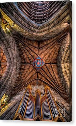 Cathedral Ceiling Canvas Print by Adrian Evans