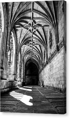 Santiago Cathedral Cloisters Canvas Print by Justin Murazzo