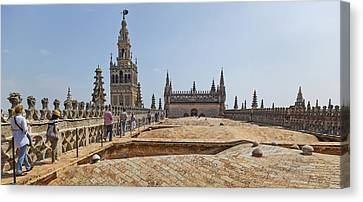 Cathedral In A City, Seville Cathedral Canvas Print by Panoramic Images
