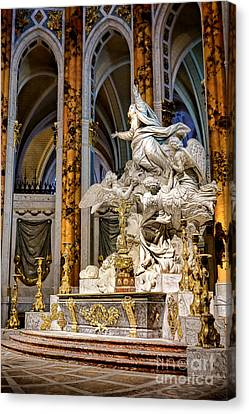 Cathedral Of Chartres Altar Canvas Print by Olivier Le Queinec