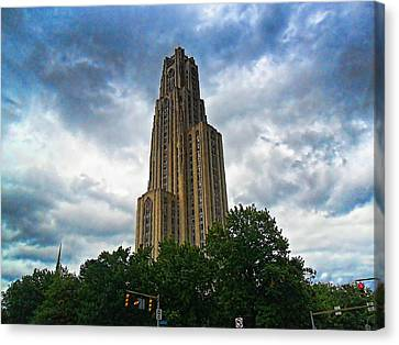 Cathedral Of Learning Canvas Print by S Patrick McKain