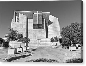 Cathedral Of Our Lady Of The Angels In Los Angeles. Canvas Print by Jamie Pham