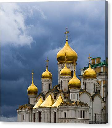Cathedral Of The Annunciation Of Moscow Kremlin - Square Canvas Print by Alexander Senin