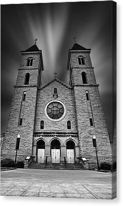 Cathedral On The Plains Canvas Print by Thomas Zimmerman
