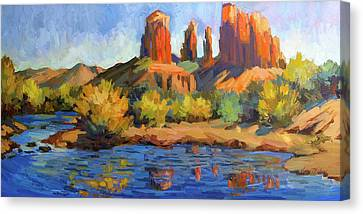 Cathedral Rock Sedona Canvas Print by Diane McClary