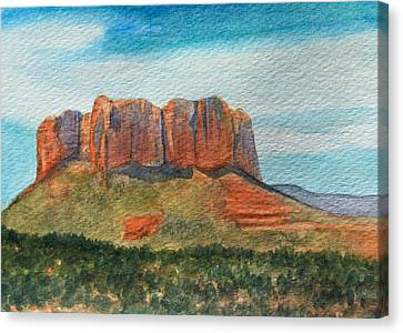 Cathedral Rock Sedona Canvas Print by James Zeger