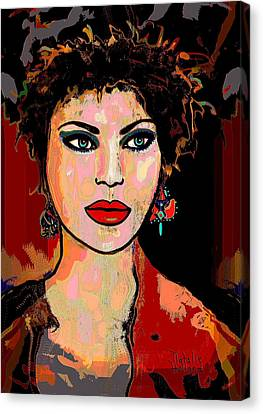 Catherine Canvas Print by Natalie Holland