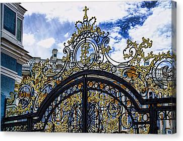 Catherine Palace Entry Gate - St Petersburg Russia Canvas Print by Jon Berghoff
