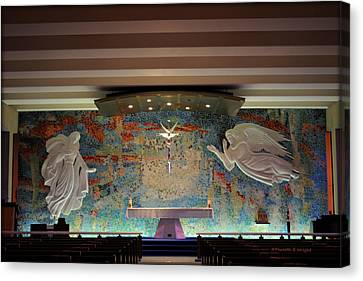 Catholic Chapel At Air Force Academy Canvas Print by Paulette B Wright