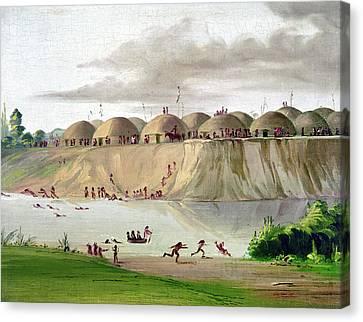 Catlin Hidatsa Village Canvas Print by Granger