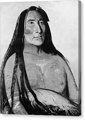 Catlin Mandan Chief, 1832 Canvas Print by Granger