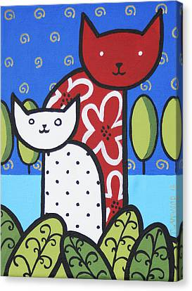 Cats 1 Canvas Print by Trudie Canwood