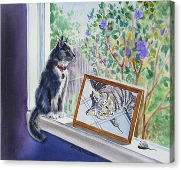 Cats And Mice Sweet Memories Canvas Print by Irina Sztukowski