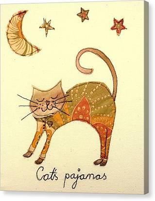 Cats Pajamas Canvas Print by Hazel Millington