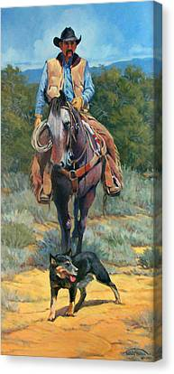 Cattle King Canvas Print by Randy Follis