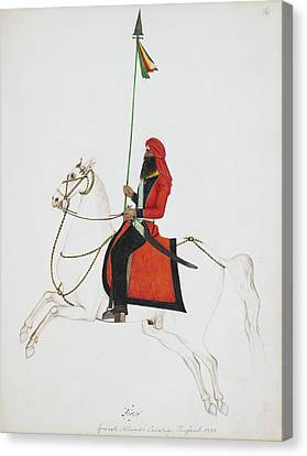 Cavalryman Carrying A Lance With Pennant Canvas Print by British Library