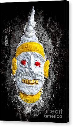 Cave Face 4 Canvas Print by Adrian Evans