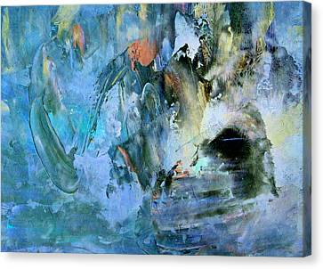 Cave Of Depression Canvas Print by Georgiana Romanovna