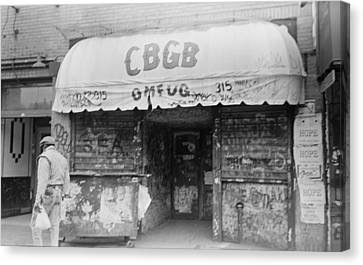 Cbgb Omfug On The Bowery New York City 1989 Canvas Print by Anthony Troncale