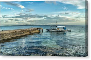 Cebu Tour Boat Canvas Print by Adrian Evans