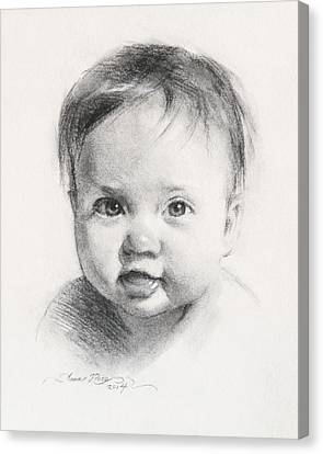 Cece At 6 Months Old Canvas Print by Anna Rose Bain