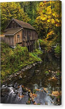 Cedar Creek Grist Mill 2 Canvas Print by Mark Kiver