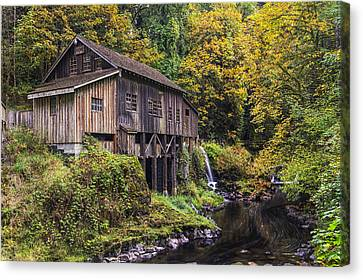Cedar Creek Grist Mill Canvas Print by Mark Kiver