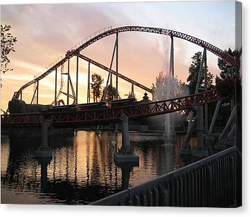 Cedar Point - Maverick - 12123 Canvas Print by DC Photographer